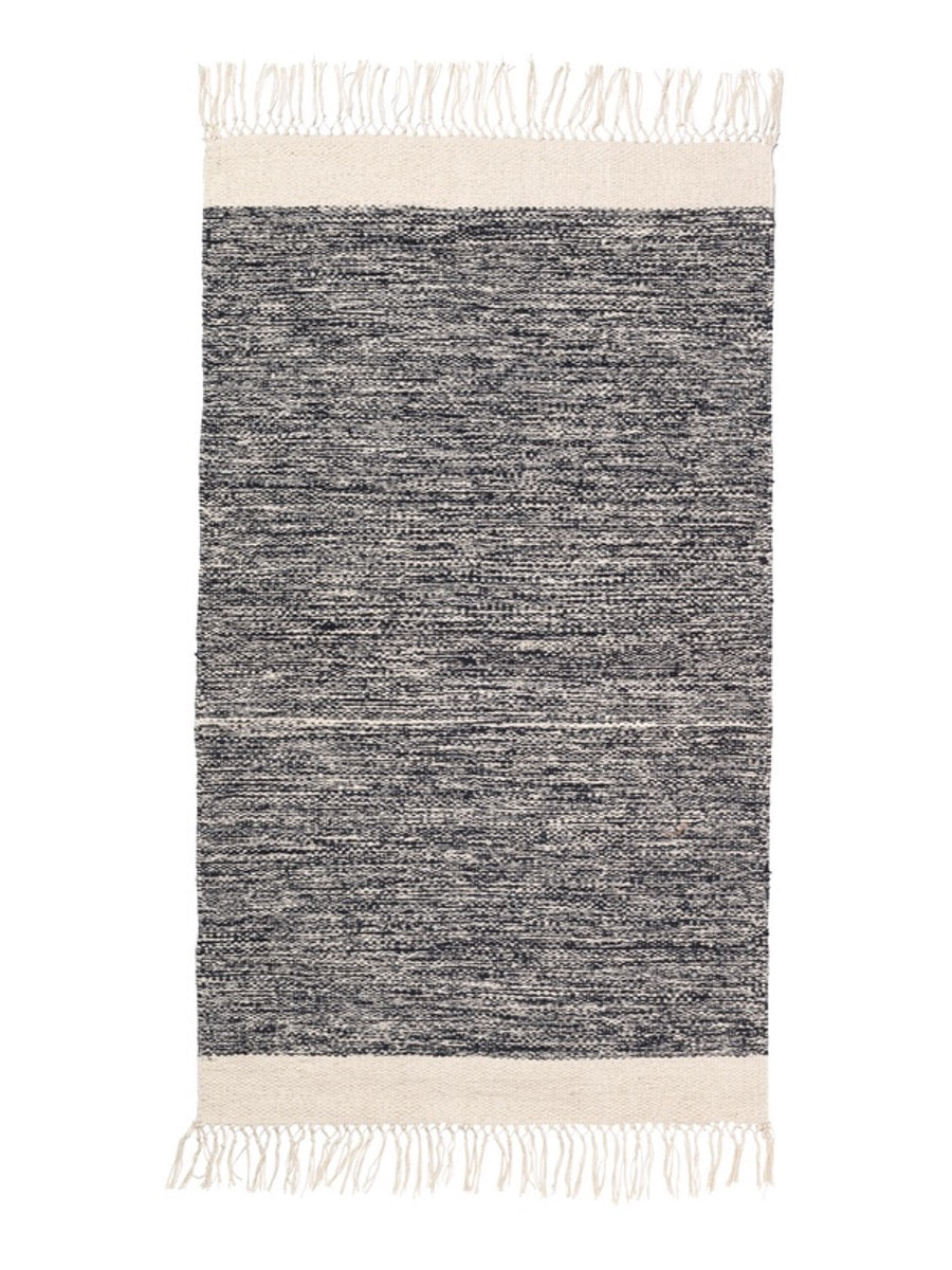 Ferm Living Melange Rug Black - Cloudberry Living