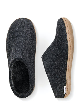 Glerups Danish Felt Slippers Unisex Charcoal Grey - Cloudberry Living