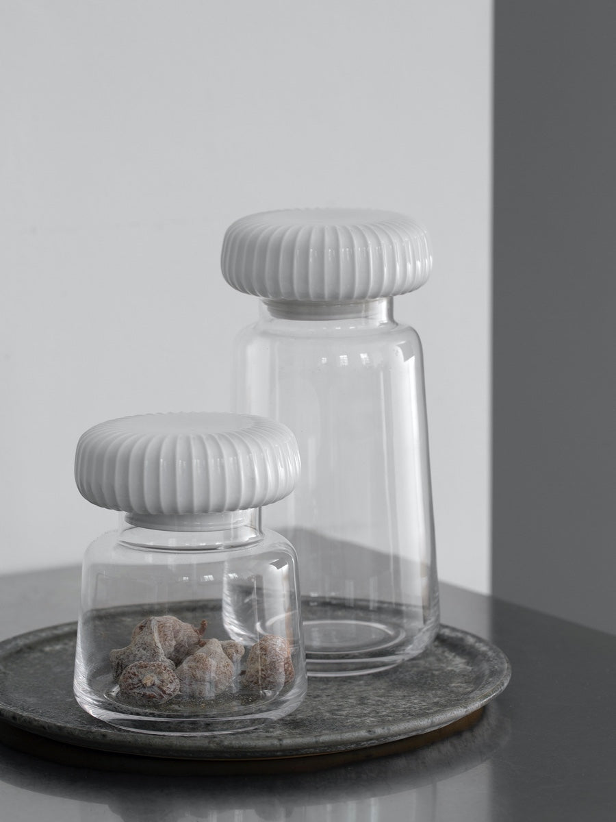 Kahler Hammershoi Storage Jar White Large - Cloudberry Living