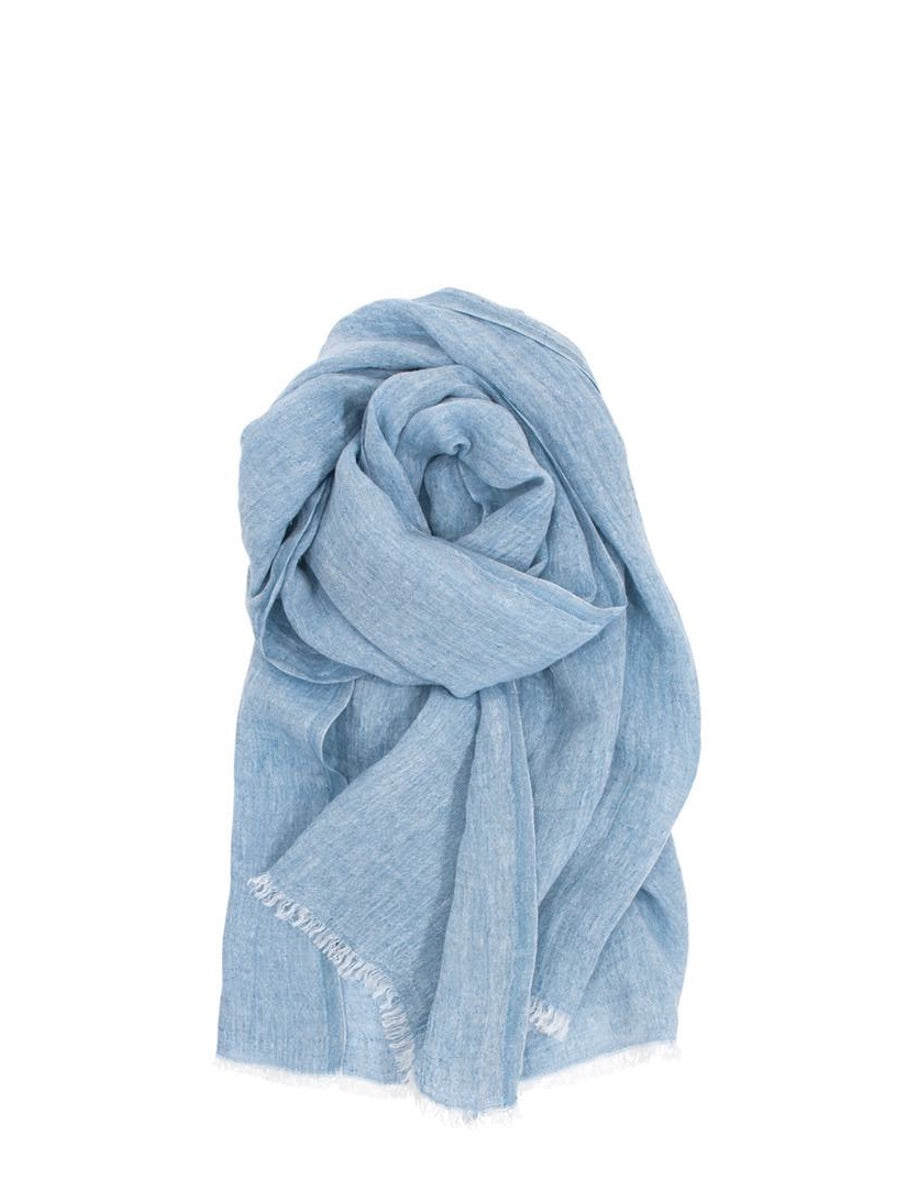 Lapuan Kankurit Halaus Linen Scarf Rainy Blue - Cloudberry Living