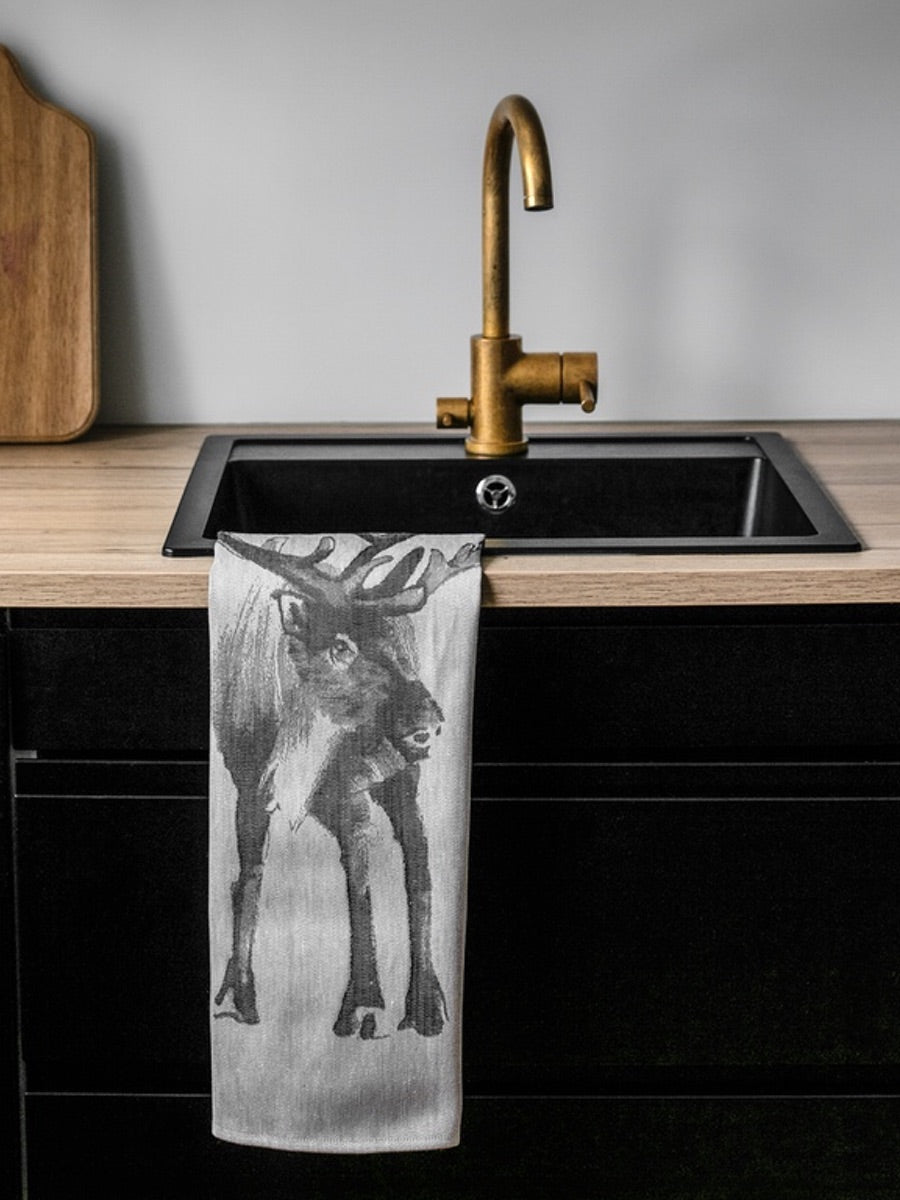 Lapuan Kankurit (Poro) Deer Tea Towel - Cloudberry Living