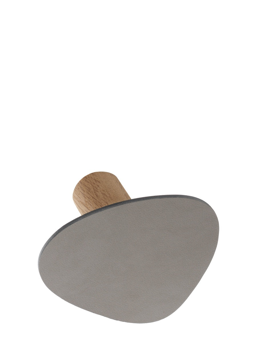 Lind DNA Leather Wall Dot Hook Light Grey - Cloudberry Living