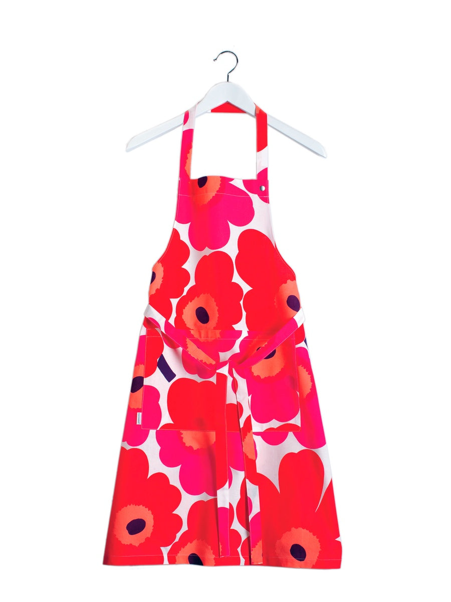 Marimekko Pieni Unikko Apron Red - Cloudberry Living