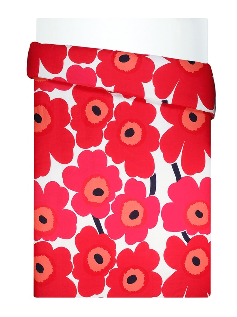 Marimekko Unikko Duvet Cover Red - Cloudberry Living
