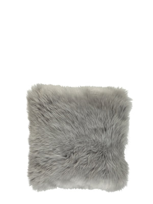 Natures Collection New Zealand Sheepskin Cushion Light Grey - Cloudberry Living