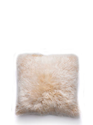 Natures Collection New Zealand Sheepskin Cushion Linen - Cloudberry Living