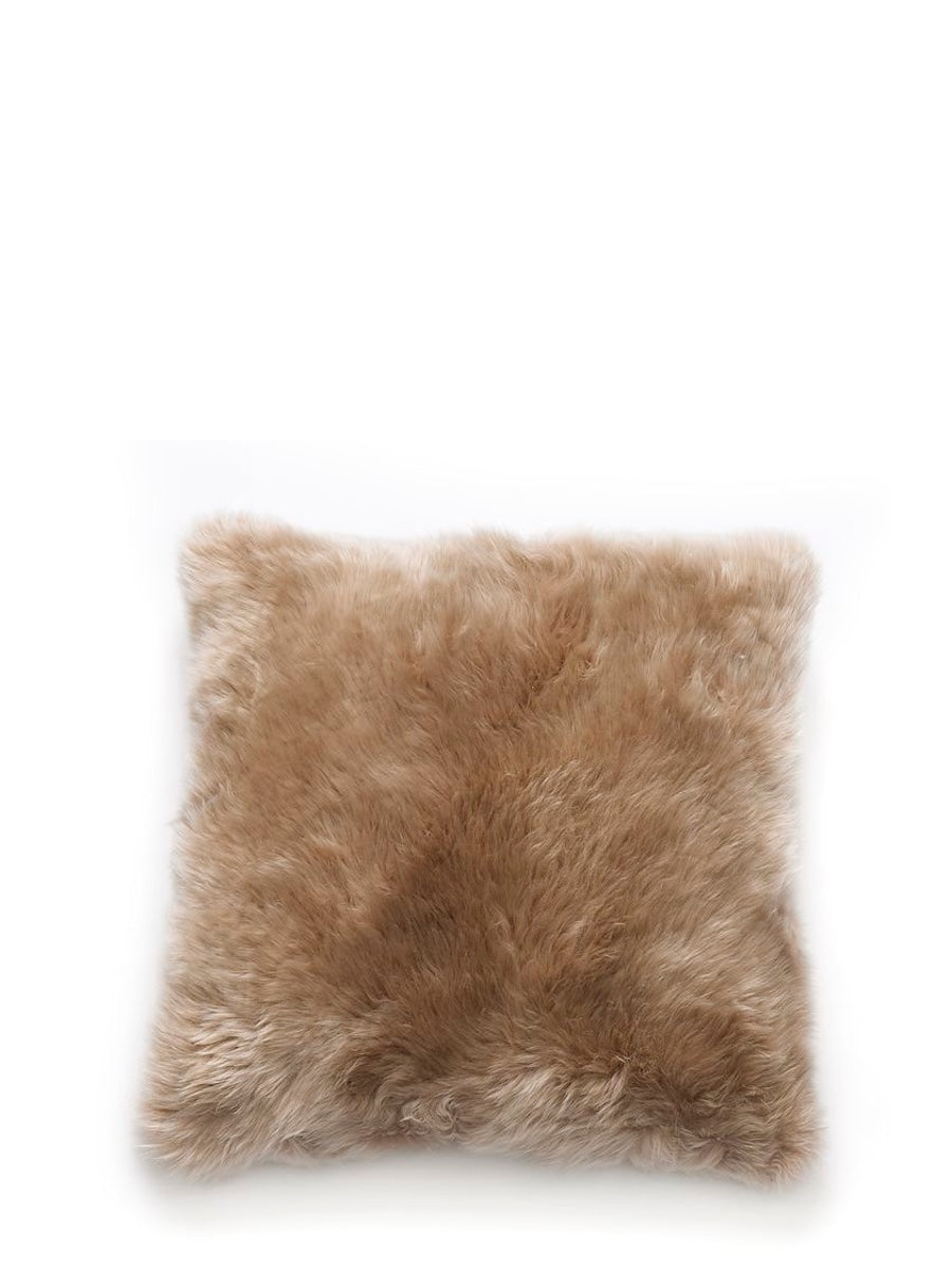Natures Collection New Zealand Sheepskin Cushion Taupe - Cloudberry Living
