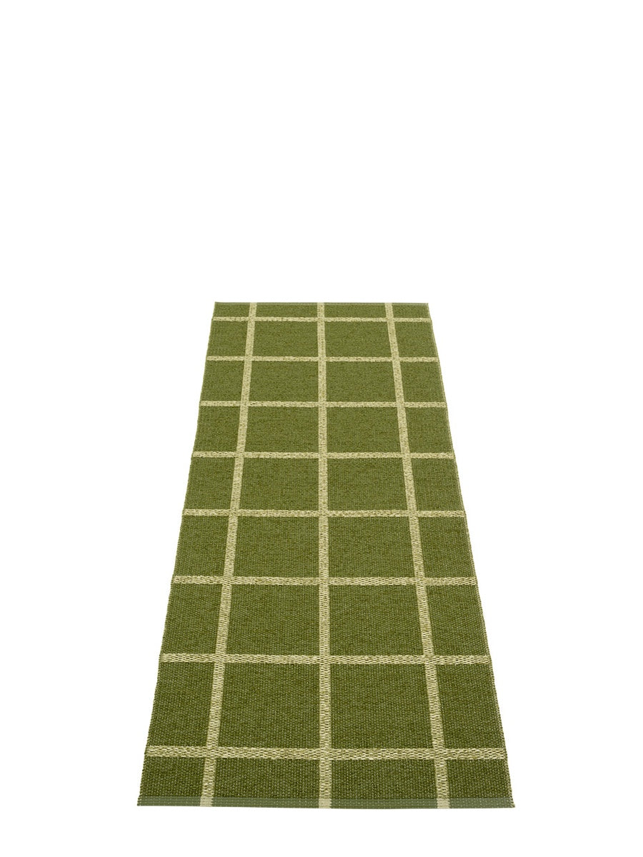 Pappelina Ada Dark Olive Runner Rug - Cloudberry Living
