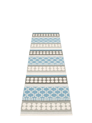 Pappelina Asta Runner Rug Misty Blue - Cloudberry Living