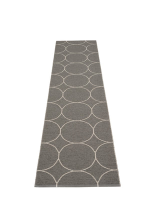 Pappelina Boo Charcoal Runner Rug - Cloudberry Living