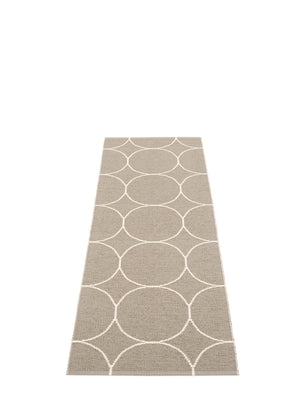 Pappelina Boo Dark Linen Runner Rug - Cloudberry Living