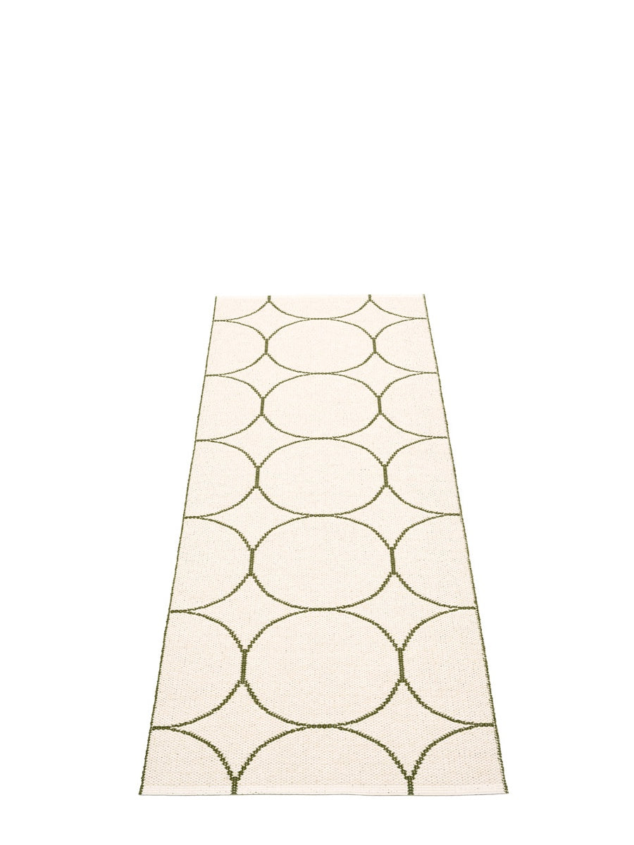 Pappelina Boo Dark Olive Runner Rug - Cloudberry Living