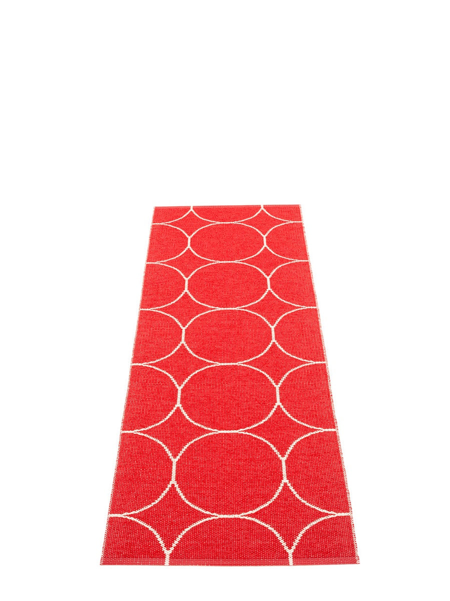 Pappelina Boo Red/Vanilla Runner Rug - Cloudberry Living