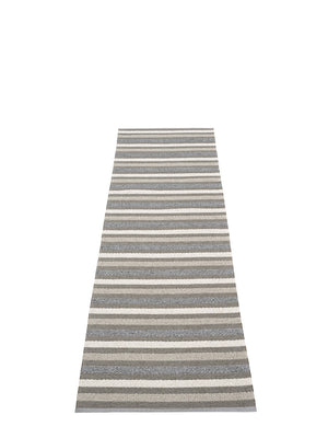 Pappelina Grace Charcoal Runner Rug - Cloudberry Living