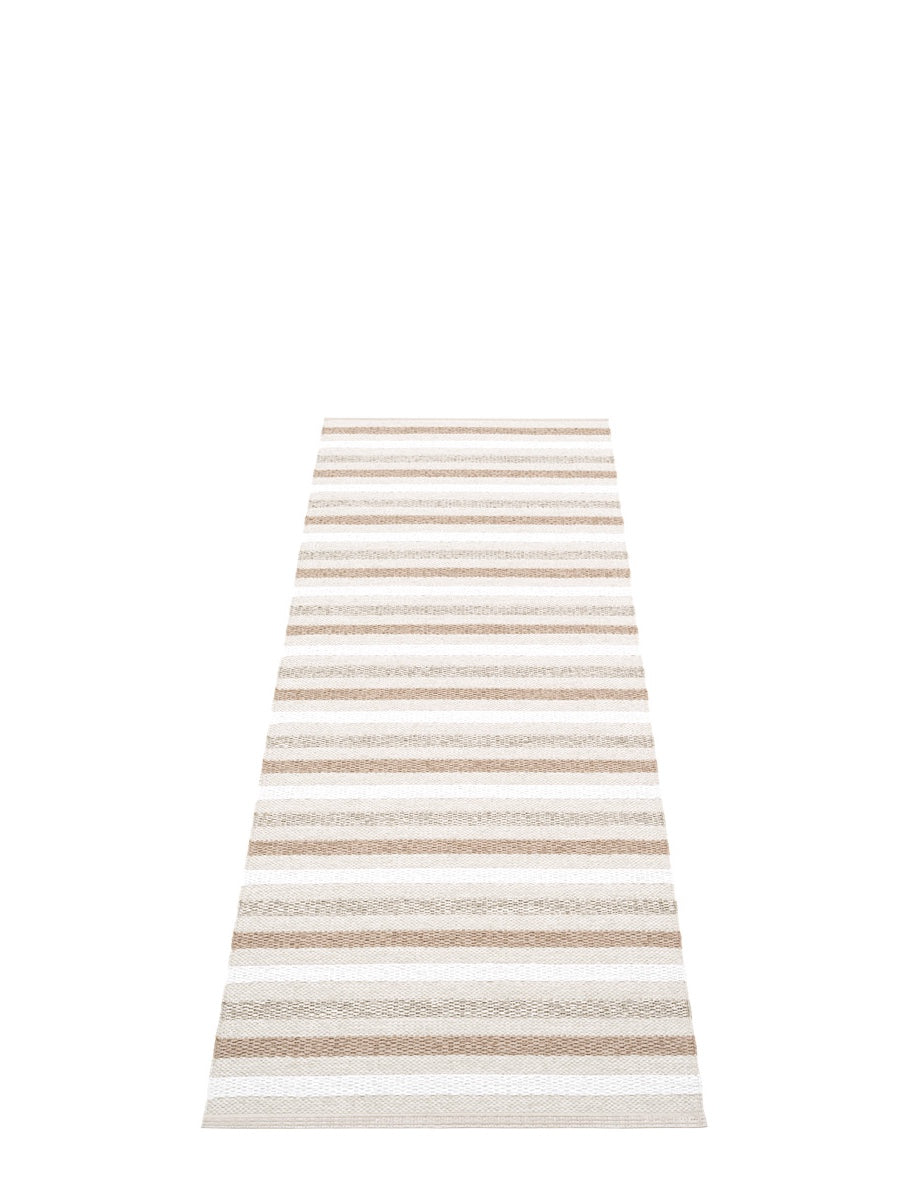 Pappelina Grace Fossil Grey Runner Rug - Cloudberry Living