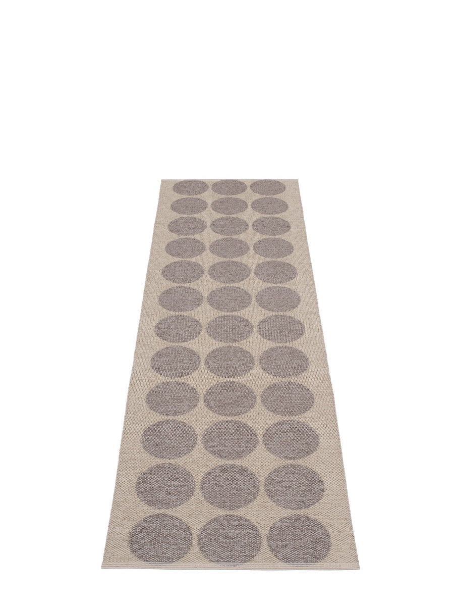 Pappelina Hugo Mud Metallic Runner Rug - Cloudberry Living
