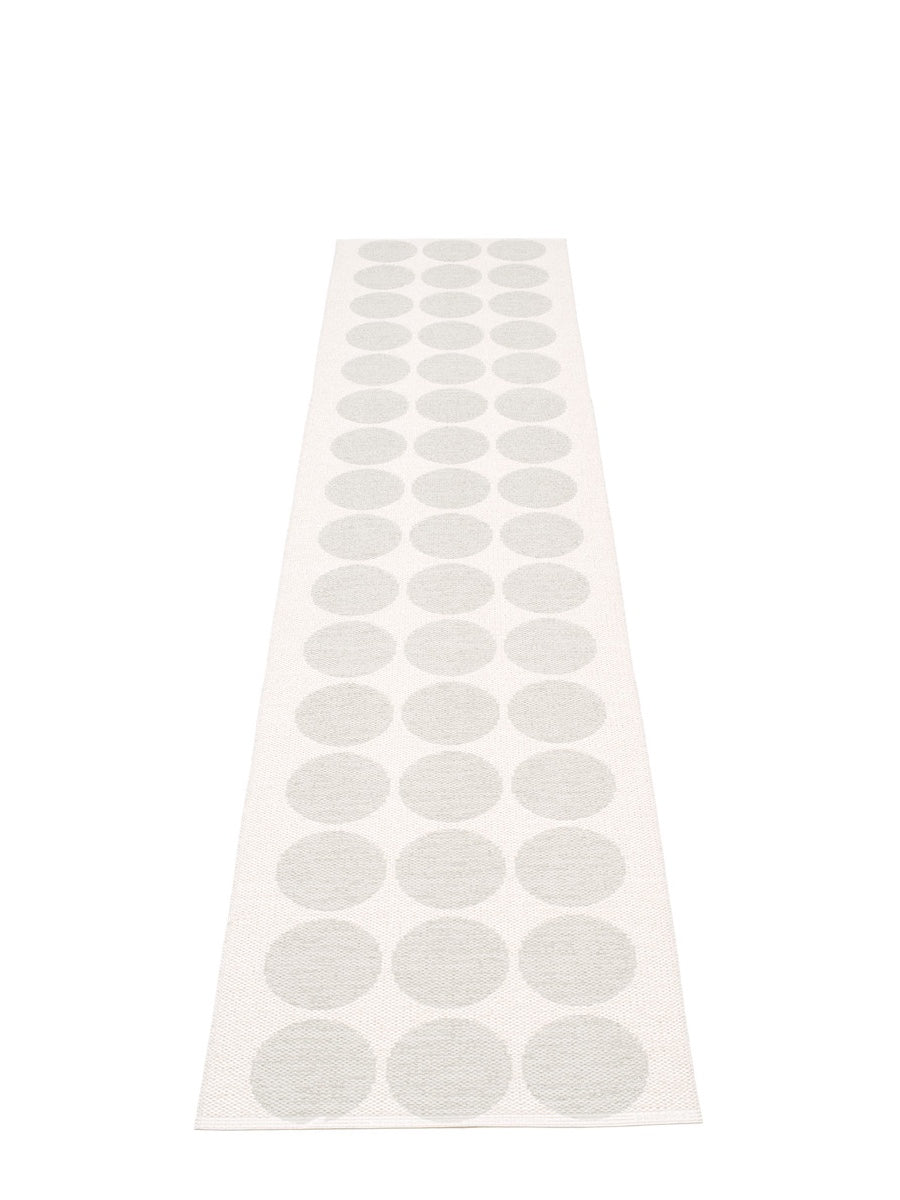 Pappelina Hugo White Metallic Runner Rug - Cloudberry Living