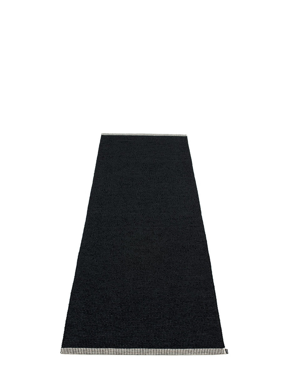 Pappelina Mono Black Runner Rug Cloudberry Living