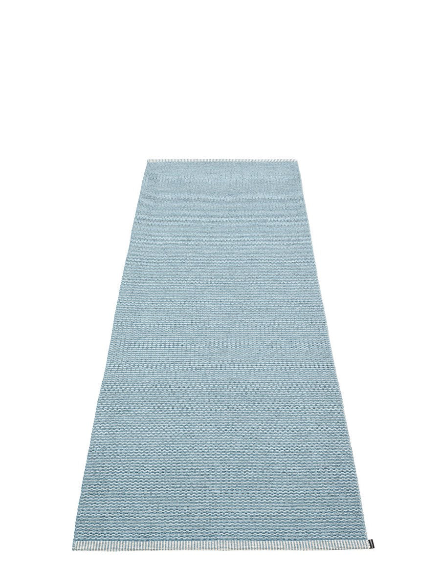 Pappelina Mono Blue Fog Runner Rug - Cloudberry Living
