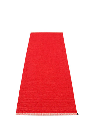 Pappelina Mono Coral Red Runner Rug - Cloudberry Living