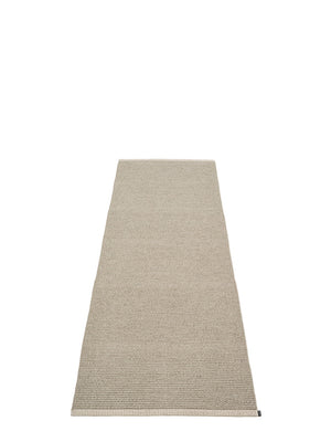 Pappelina Mono Dark Linen Runner Rug - Cloudberry Living