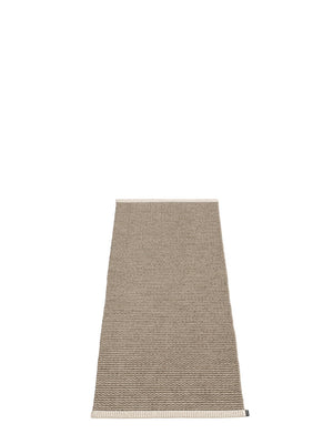 Pappelina Mono Dark Mud Runner Rug - Cloudberry Living