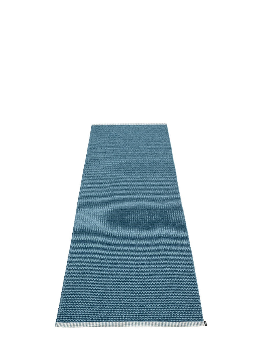 Pappelina Mono Ocean Blue Runner Rug - Cloudberry Living