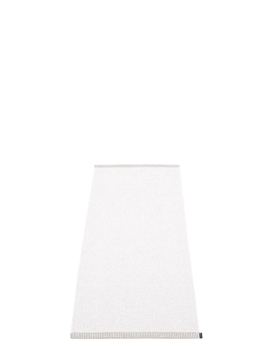 Pappelina Mono White Runner Rug - Cloudberry Living
