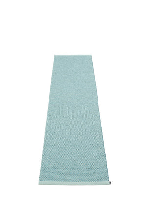 Pappelina Svea Azurblue Metallic Runner Rug - Cloudberry Living