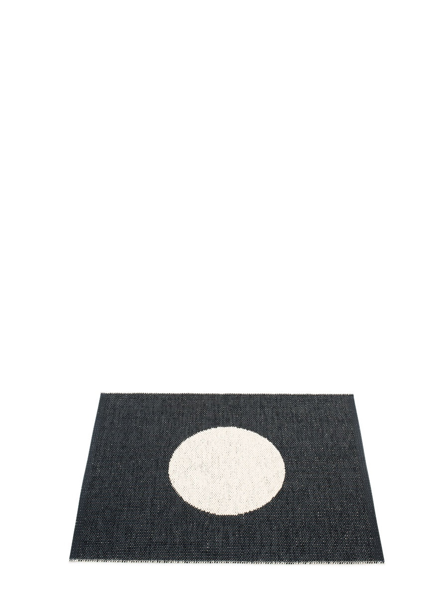 Pappelina Vera Black Runner Rug, - Cloudberry Living
