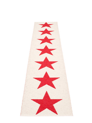 Pappelina Viggo One Red Runner Rug - Cloudberry Living