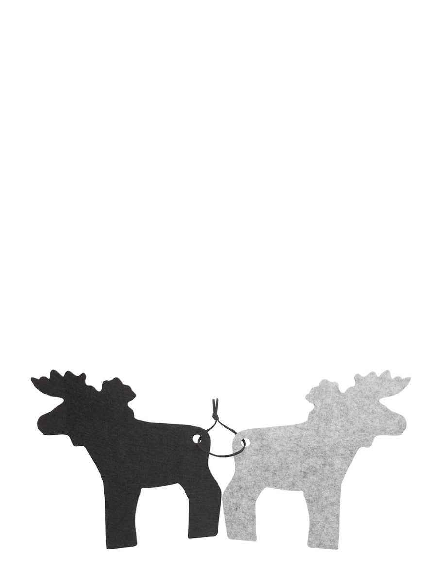 Sagaform Scandinavian Moose Felt Trivets 2 Piece Black Grey - Cloudberry Living