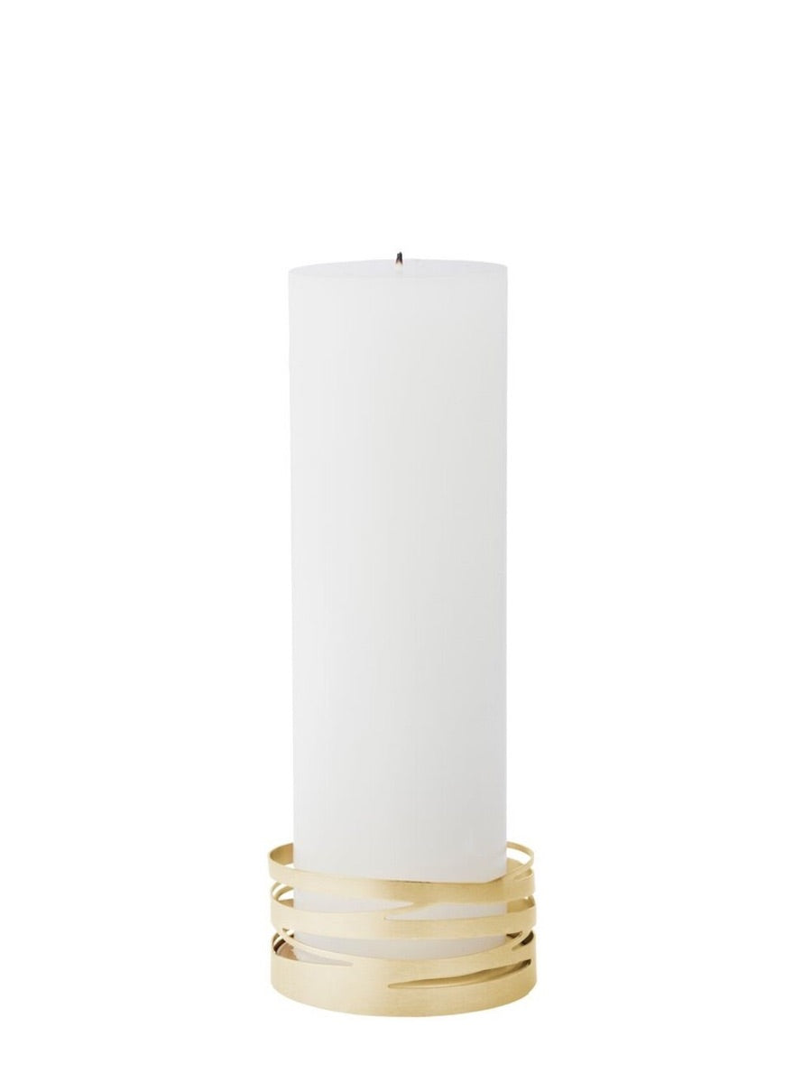 Stelton Tangle Advent Candle Holder Brushed Brass - Cloudberry Living