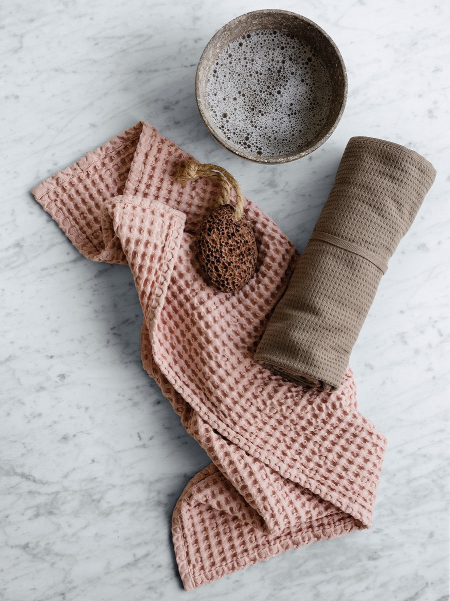 The Organic Company Big Waffle Hand Towel - Cloudberry Living