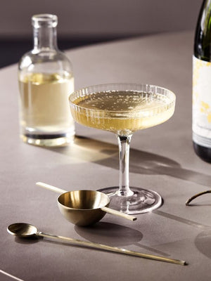 Ferm Living Ripple Champagne Saucer Set of 2 - Cloudberry Living
