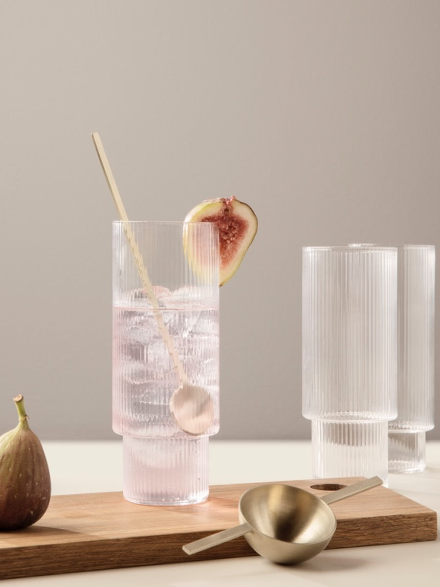Ferm Living Ripple Long Drink Glasses Set of 4 - Cloudberry Living