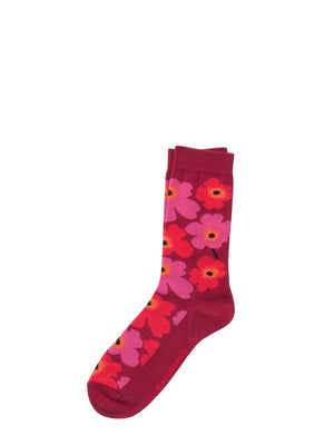 Marimekko Heita Unikko Socks Red - Cloudberry Living