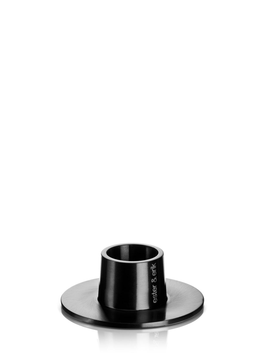 Ester & Erik Matt Black Candle Holder