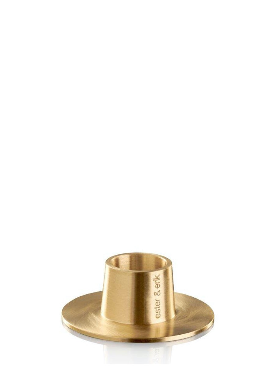 Ester & Erik Brushed Brass Candle Holder - Cloudberry Living