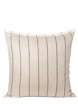 Ferm Living Calm Cushion Large Camel - Black - Cloudberry Living
