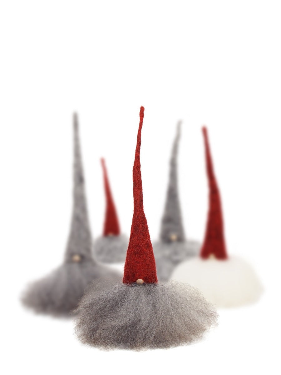 Christmas Tomte Large Red Cap Grey Hair - Cloudberry Living