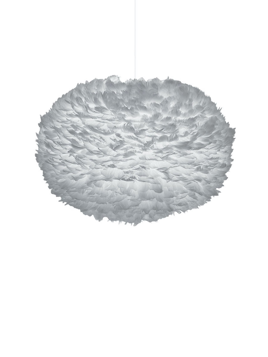 Umage Eos Light Grey Feather Lampshade - Cloudberry Living