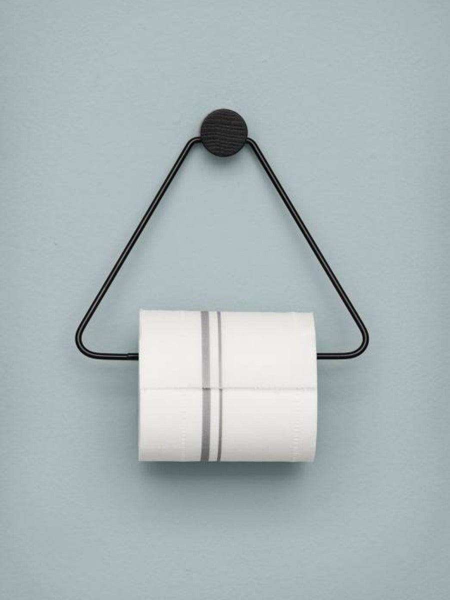 Ferm Living Black Toilet Paper Holder - Cloudberry Living