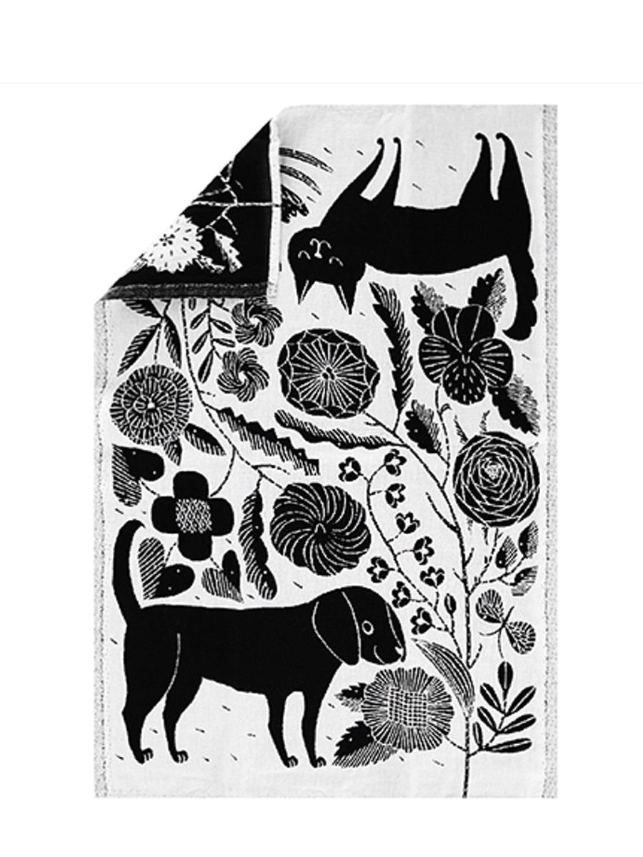 Lapuan Kankurit Koira Ja Kissa Tea Towel - Cloudberry Living