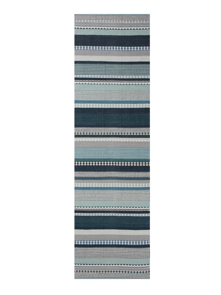 Linie Design Hibiscus Runner Rug Aqua - Cloudberry Living