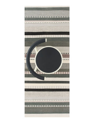 Linie Design Hibiscus Runner Rug Grey - Cloudberry Living