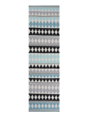 Linie Design Nantes Runner Rug Aqua - Cloudberry Living