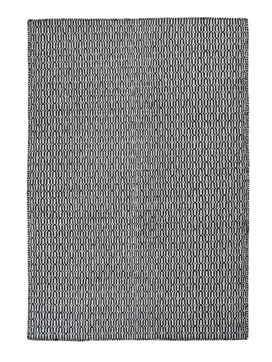 Linie Design Tile Rug Black & White - Cloudberry Living