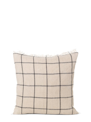 Ferm Living Calm Cushion Square Camel - Black - Cloudberry Living