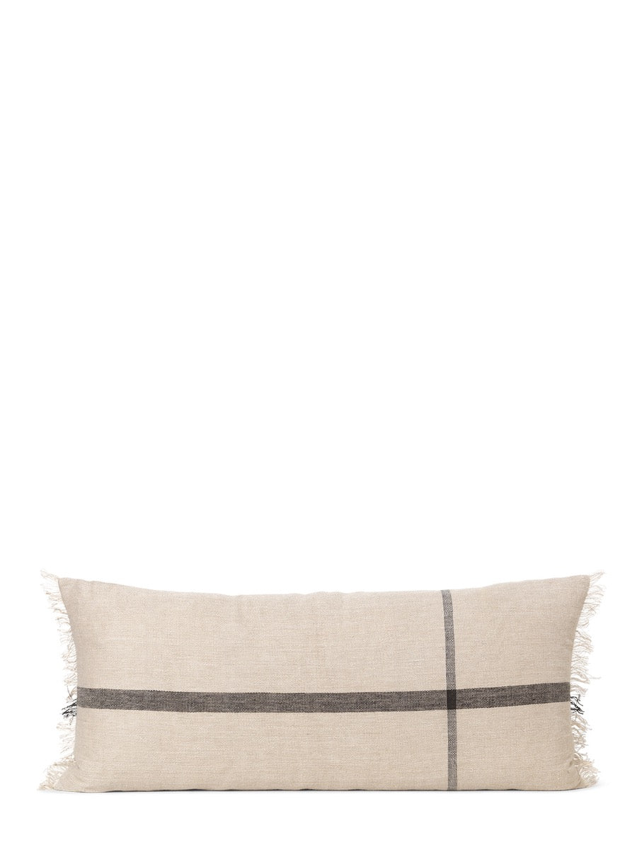 Ferm Living Calm Cushion Long Camel - Black - Cloudberry Living